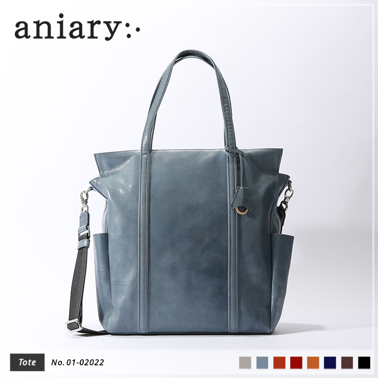 【aniary|アニアリ】トートバッグ Antique Leather 01-02022 Pale Blue