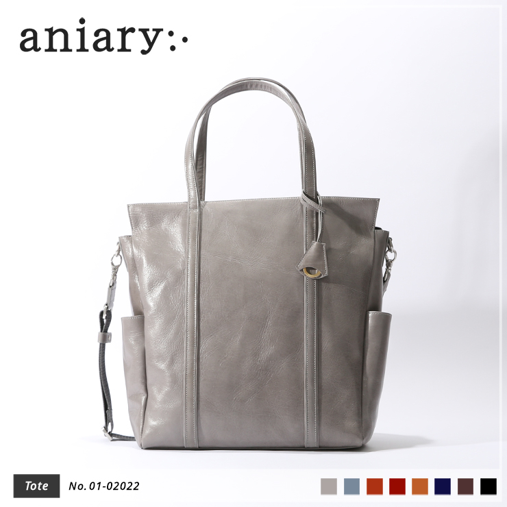 【aniary|アニアリ】トートバッグ Antique Leather 01-02022 Light Gray