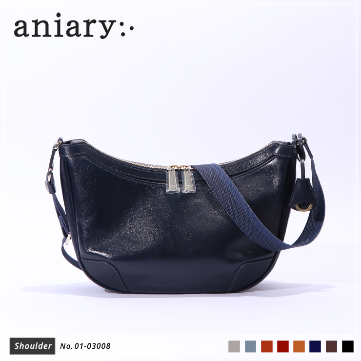【aniary|アニアリ】ショルダーバッグ Antique Leather 01-03008 Dark Blue