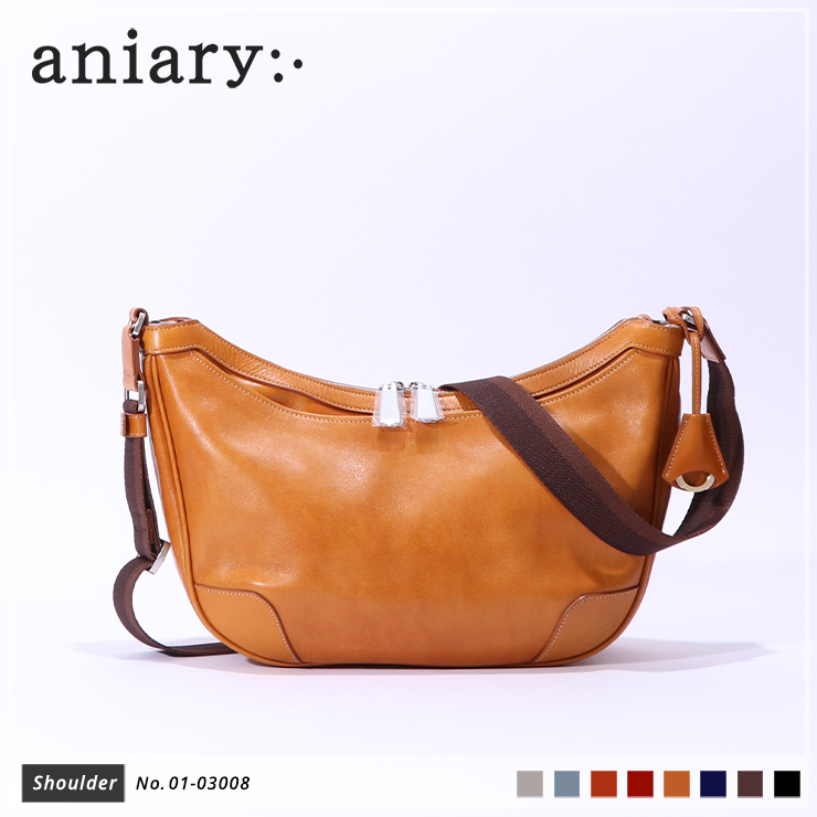 【aniary|アニアリ】ショルダーバッグ Antique Leather 01-03008 Camel