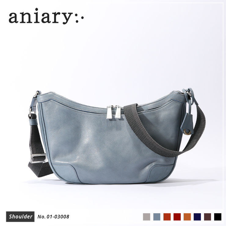 【aniary|アニアリ】ショルダーバッグ Antique Leather 01-03008 Pale Blue