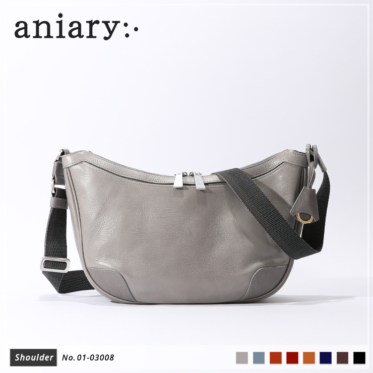 【aniary|アニアリ】ショルダーバッグ Antique Leather 01-03008 Light Gray