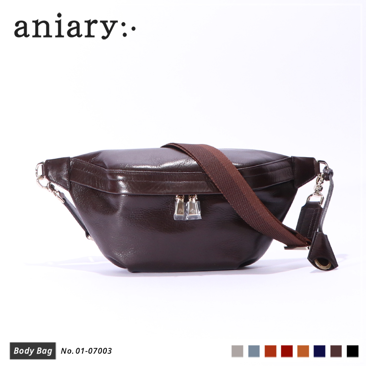 【aniary|アニアリ】ボディバッグ Antique Leather 01-07003 Dark Brown