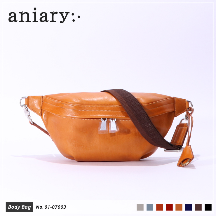 【aniary|アニアリ】ボディバッグ Antique Leather 01-07003 Camel