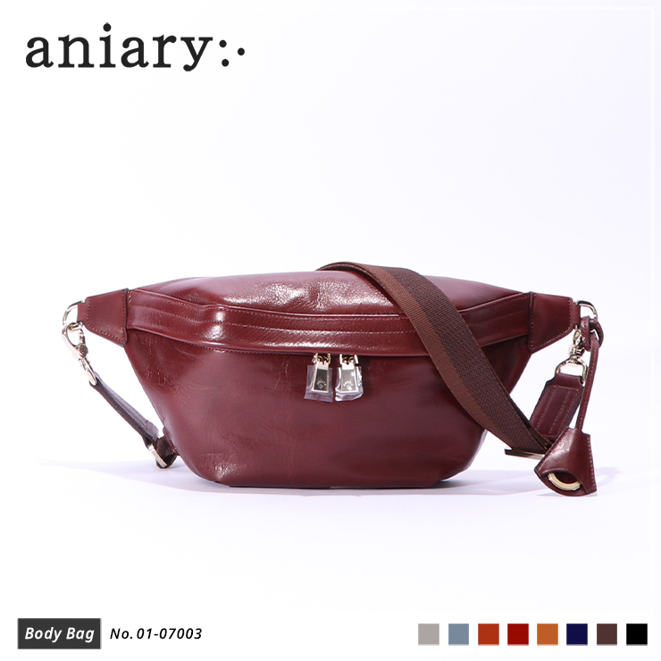 【aniary|アニアリ】ボディバッグ Antique Leather 01-07003 Marron
