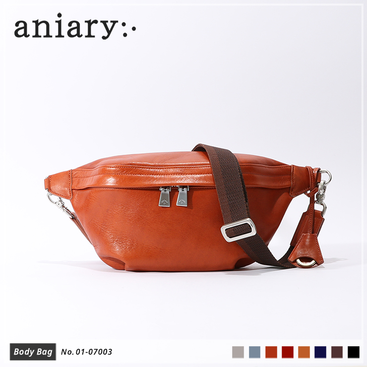 【aniary|アニアリ】ボディバッグ Antique Leather 01-07003 Dark Orange