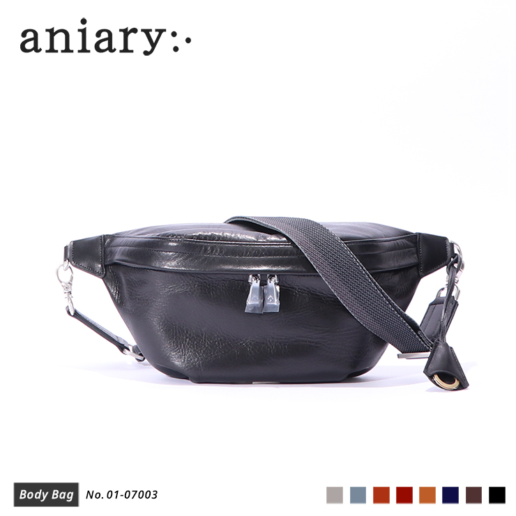 【aniary|アニアリ】ボディバッグ Antique Leather 01-07003 Black