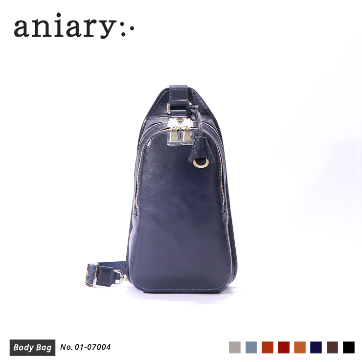 【aniary|アニアリ】ボディバッグ Antique Leather 01-07004 Dark Blue