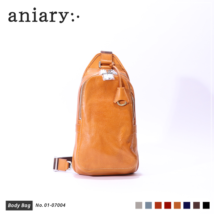 【aniary|アニアリ】ボディバッグ Antique Leather 01-07004 Camel