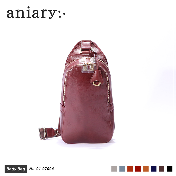 【aniary|アニアリ】ボディバッグ Antique Leather 01-07004 Marron