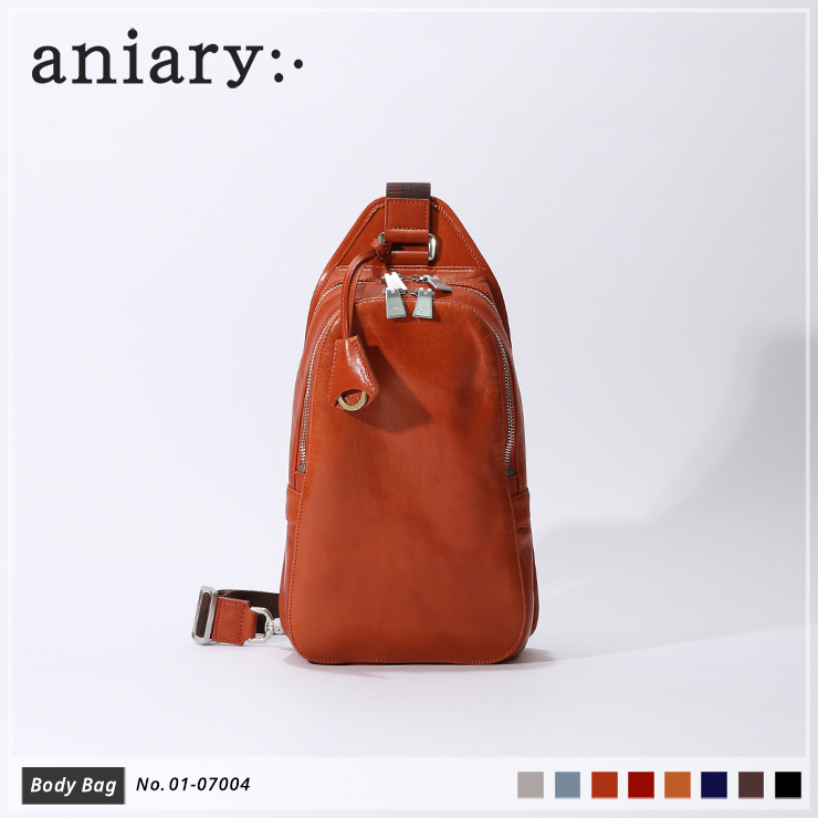 【aniary|アニアリ】ボディバッグ Antique Leather 01-07004 Dark Orange