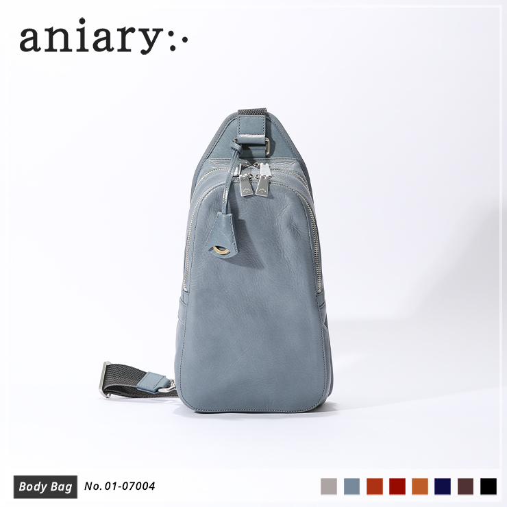 【aniary|アニアリ】ボディバッグ Antique Leather 01-07004 Pale Blue