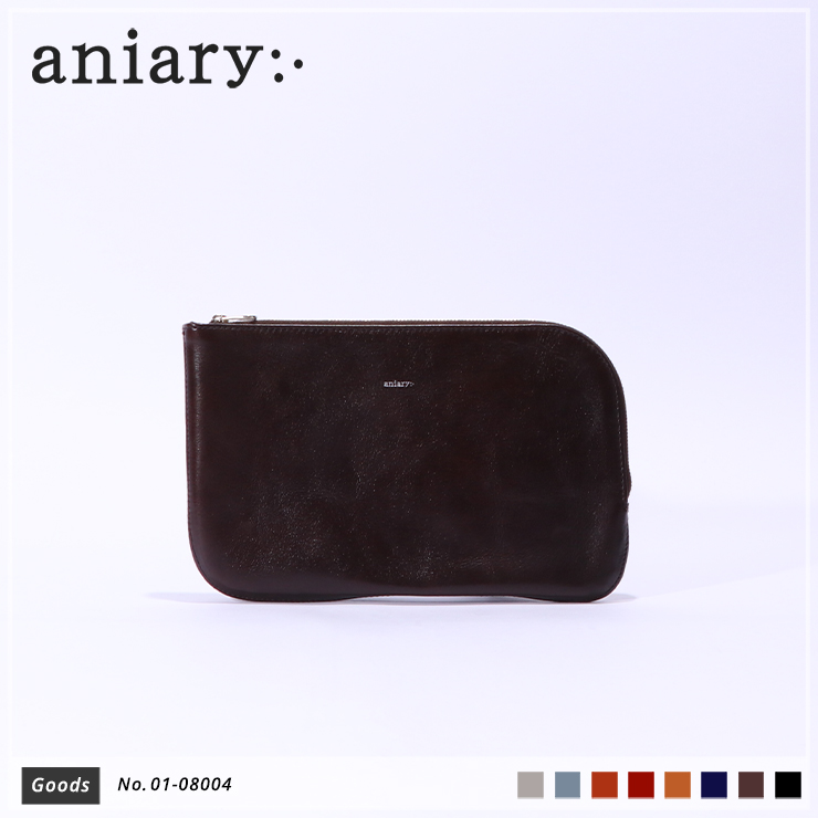 【aniary|アニアリ】オーガナイザー Antique Leather 01-08004 Dark Brown