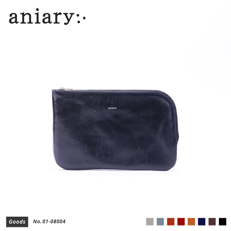 【aniary|アニアリ】オーガナイザー Antique Leather 01-08004 Dark Blue