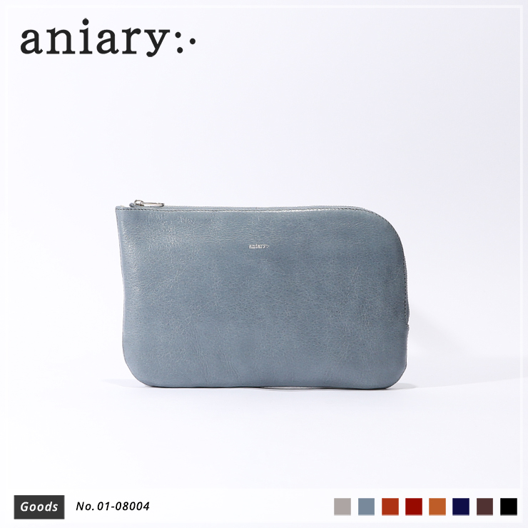 【aniary|アニアリ】オーガナイザー Antique Leather 01-08004 Pale Blue