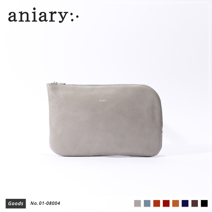 【aniary|アニアリ】オーガナイザー Antique Leather 01-08004 Light Gray