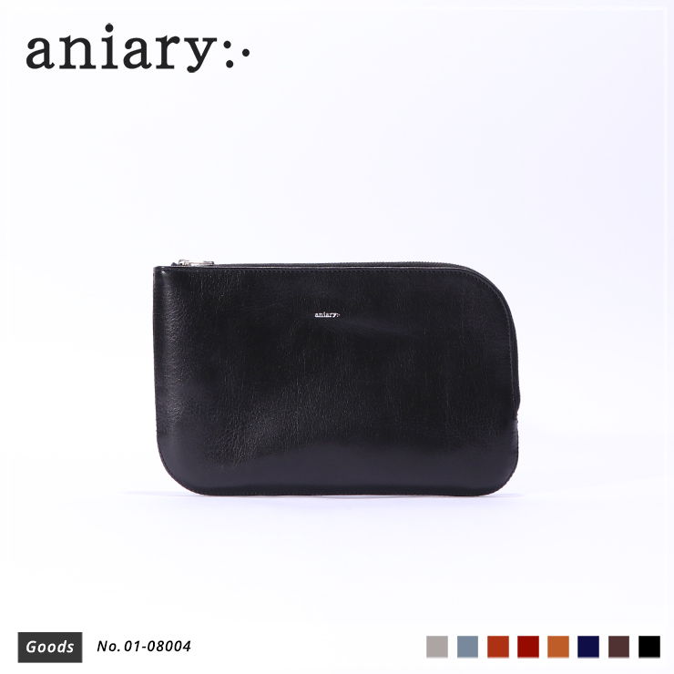 【aniary|アニアリ】オーガナイザー Antique Leather 01-08004 Black