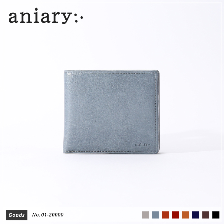 【aniary|アニアリ】ウォレット Antique Leather 01-20000 Pale Blue