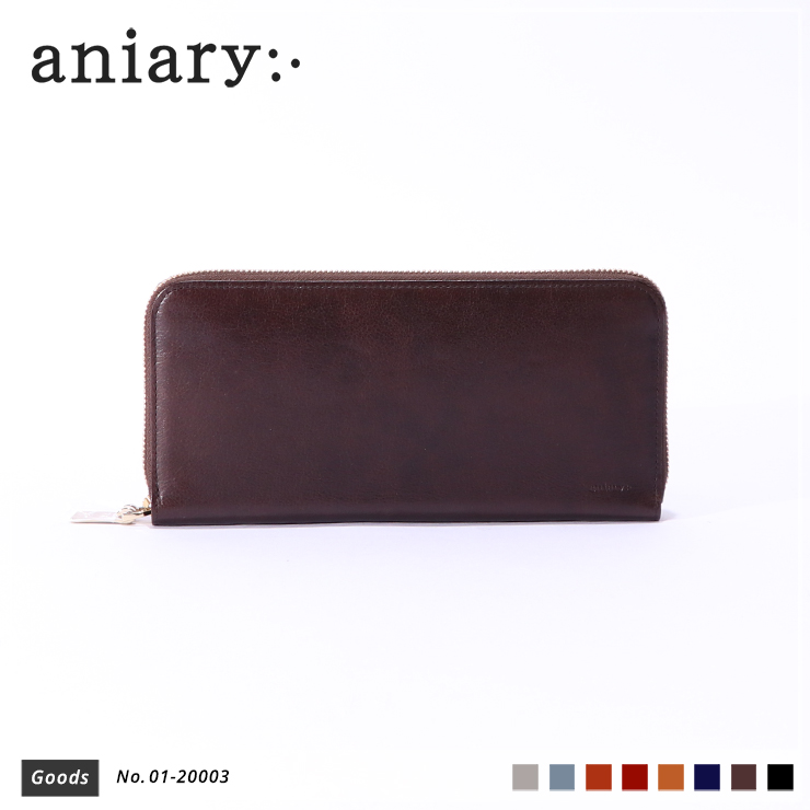 【aniary|アニアリ】ウォレット Antique Leather 01-20003 Dark Brown