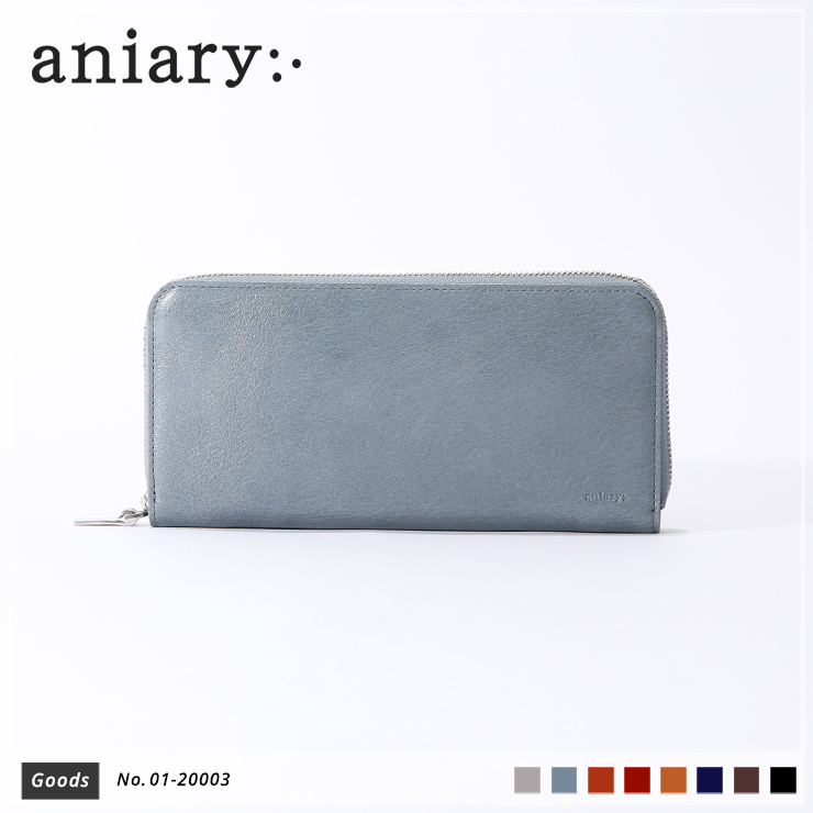 【aniary|アニアリ】ウォレット Antique Leather 01-20003 Pale Blue