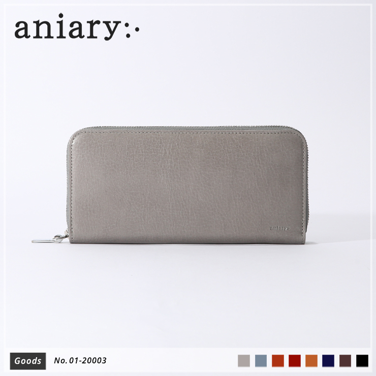 【aniary|アニアリ】ウォレット Antique Leather 01-20003 Light Gray