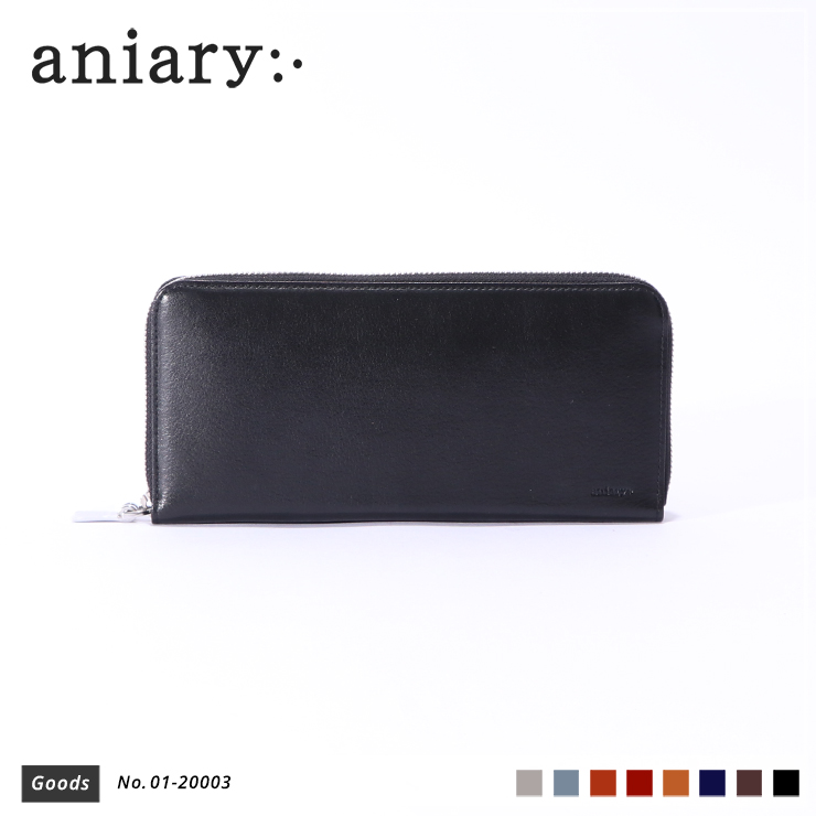 【aniary|アニアリ】ウォレット Antique Leather 01-20003 Black