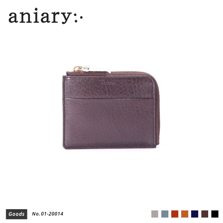 【aniary|アニアリ】コインケース Antique Leather 01-20014 Dark Brown