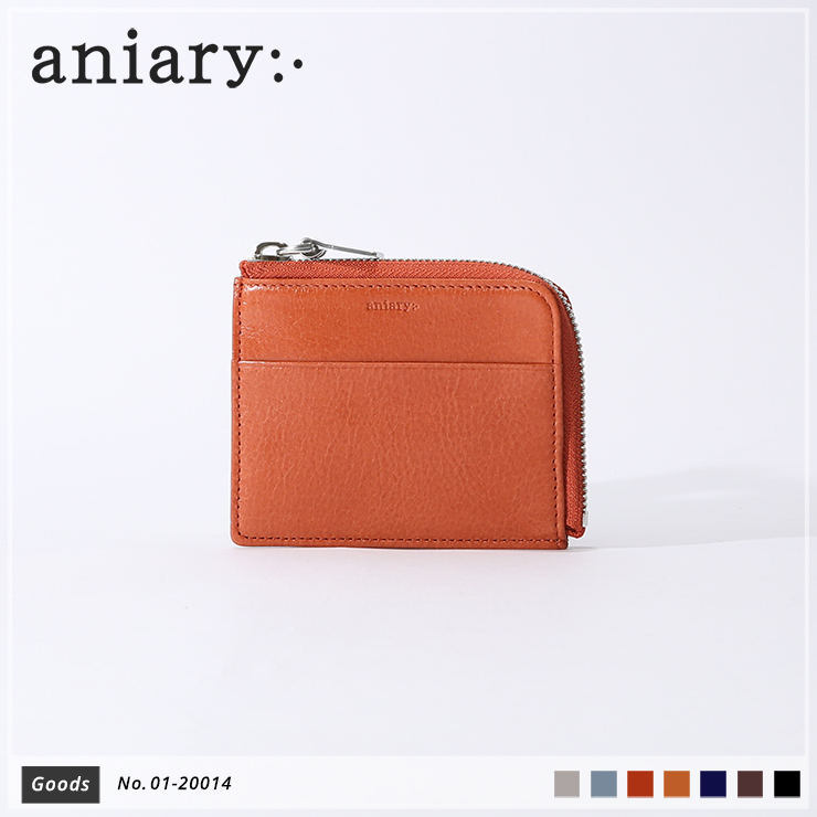 【aniary|アニアリ】コインケース Antique Leather 01-20014 Dark Orange