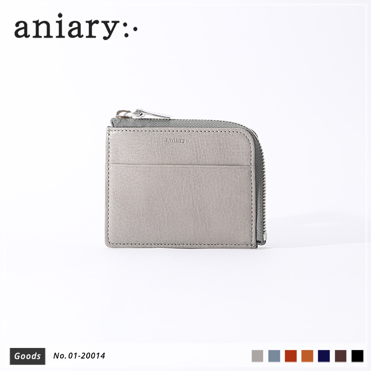 【aniary|アニアリ】コインケース Antique Leather 01-20014 Light Gray
