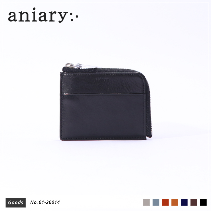 【aniary|アニアリ】コインケース Antique Leather 01-20014 Black