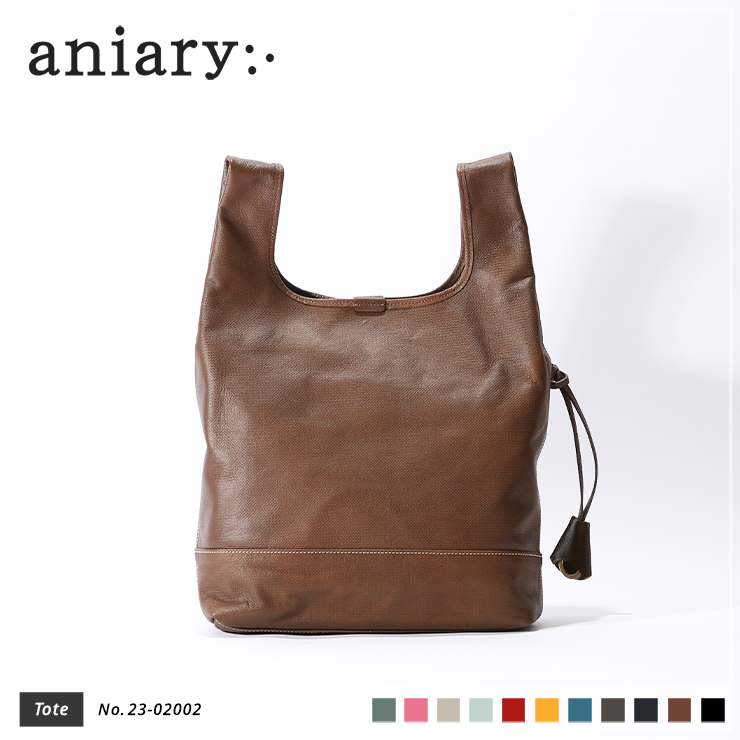 【aniary|アニアリ】トートバッグ Crossing Leather 23-02002 Brown