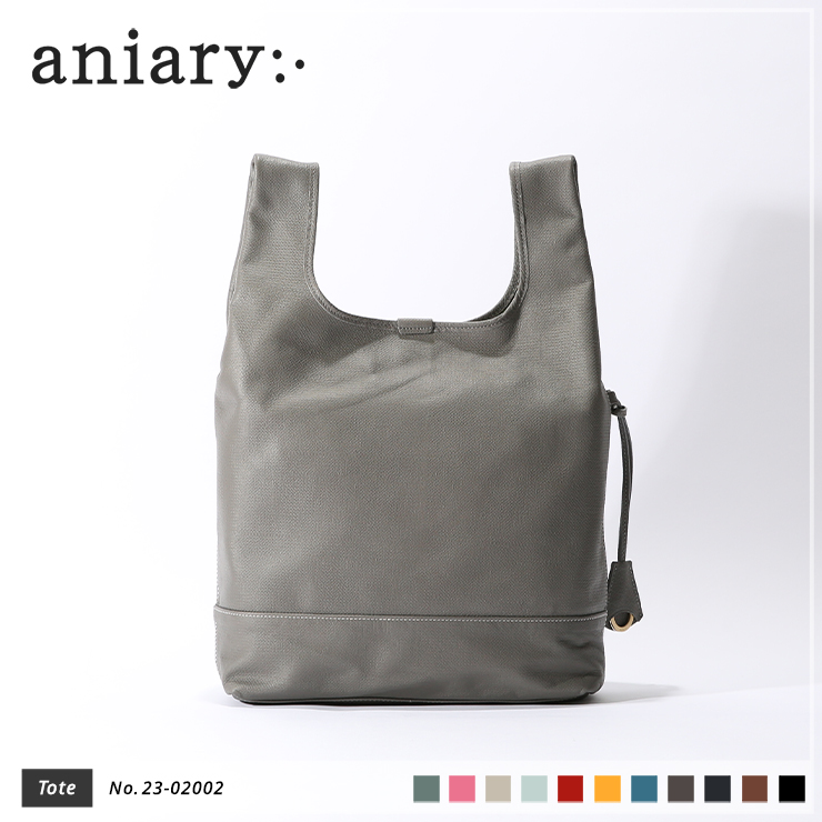 【aniary|アニアリ】トートバッグ Crossing Leather 23-02002 Gray