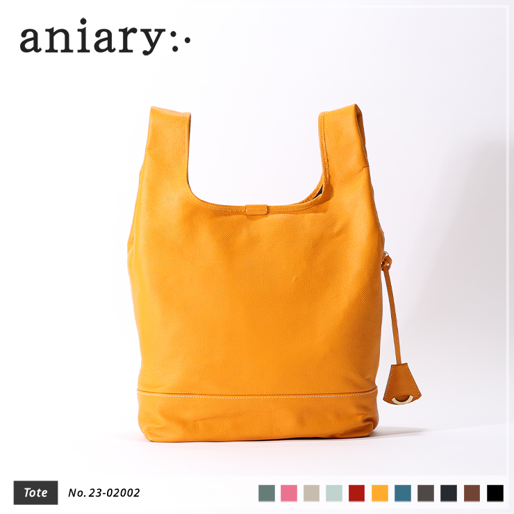 【aniary|アニアリ】トートバッグ Crossing Leather 23-02002 Yellow