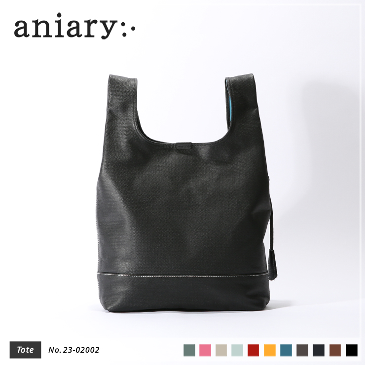 【aniary|アニアリ】トートバッグ Crossing Leather 23-02002 Black