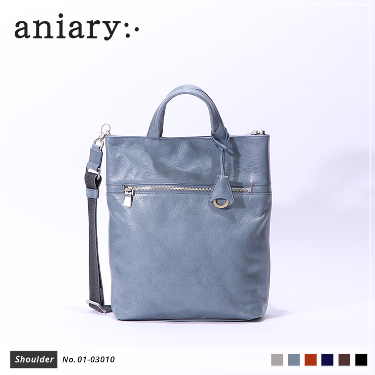 【aniary|アニアリ】ショルダーバッグ Antique Leather 01-03010 Pale Blue