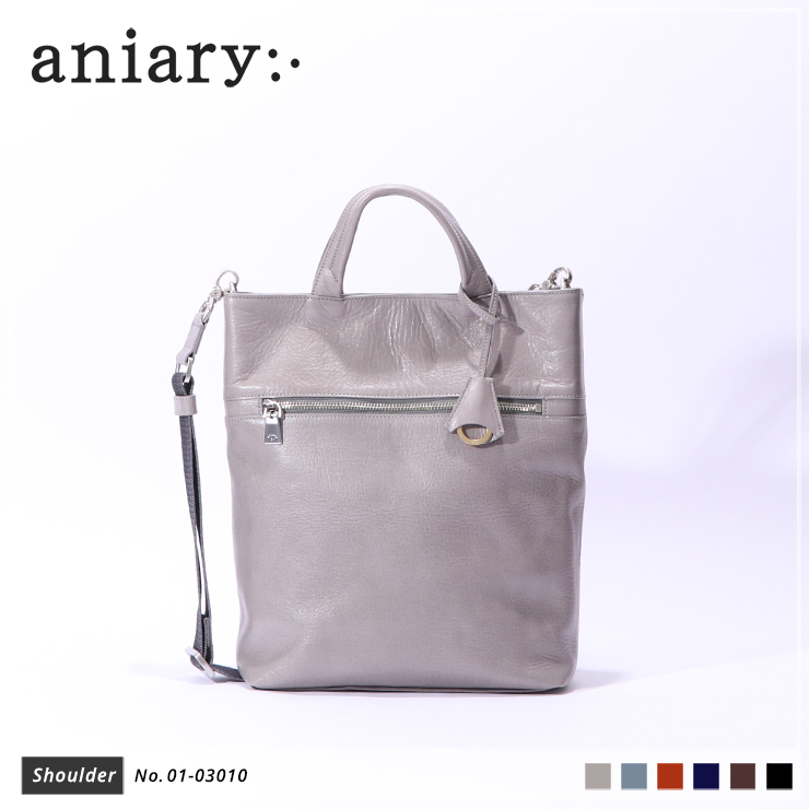 【aniary|アニアリ】ショルダーバッグ Antique Leather 01-03010 Light Gray