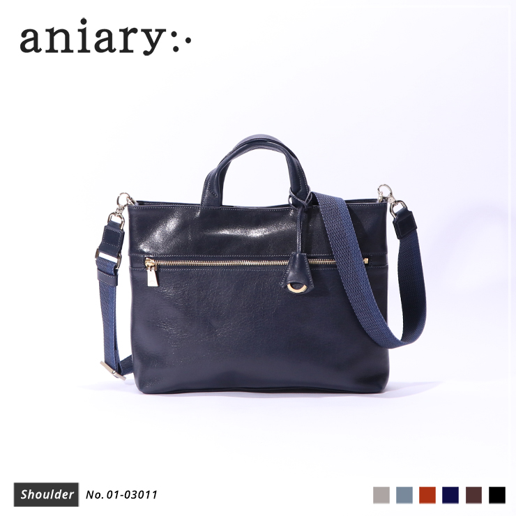 【aniary|アニアリ】ショルダーバッグ Antique Leather 01-03011 Dark Blue