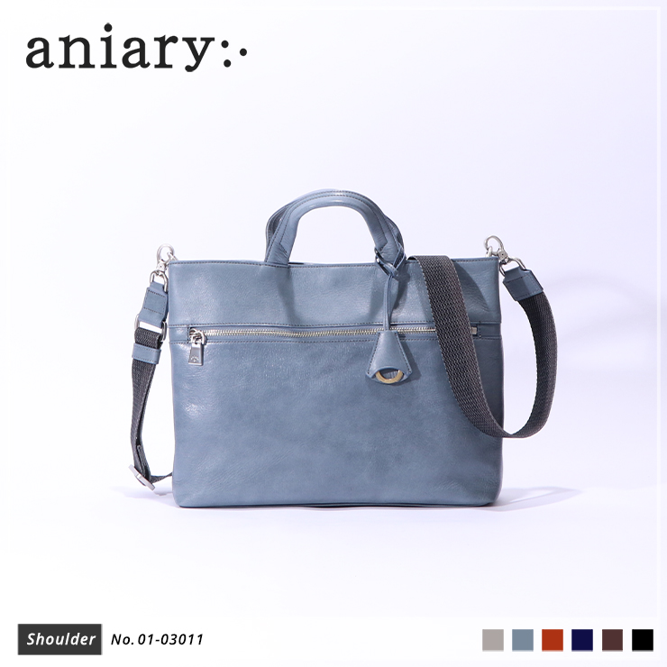 【aniary|アニアリ】ショルダーバッグ Antique Leather 01-03011 Pale Blue
