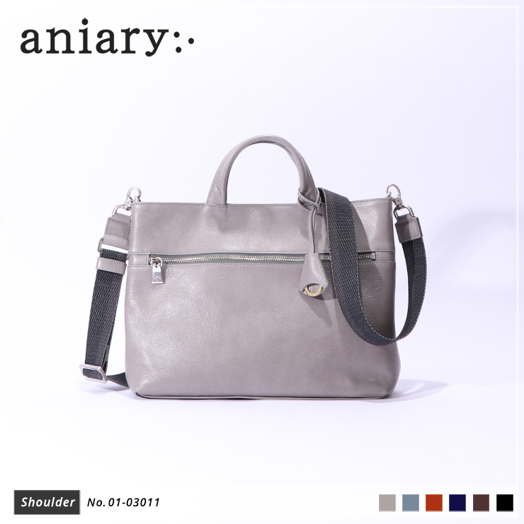 【aniary|アニアリ】ショルダーバッグ Antique Leather 01-03011 Light Gray
