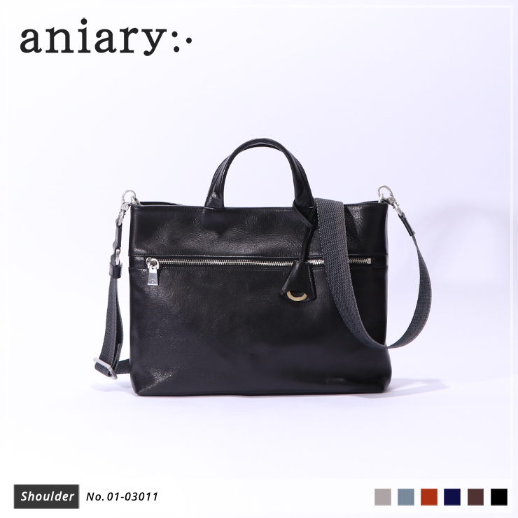 【aniary|アニアリ】ショルダーバッグ Antique Leather 01-03011 Black