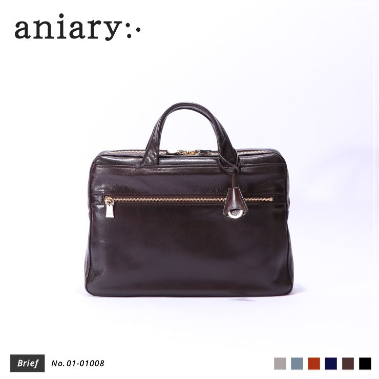 【aniary|アニアリ】ブリーフケース Antique Leather 01-01008 Dark Brown