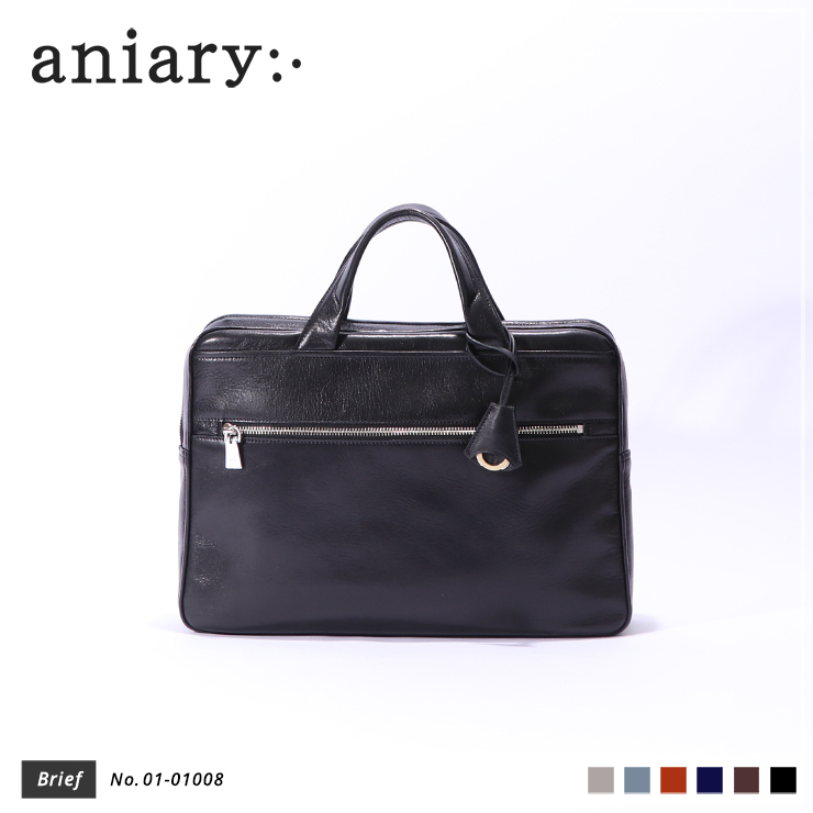 【aniary|アニアリ】ブリーフケース Antique Leather 01-01008 Black