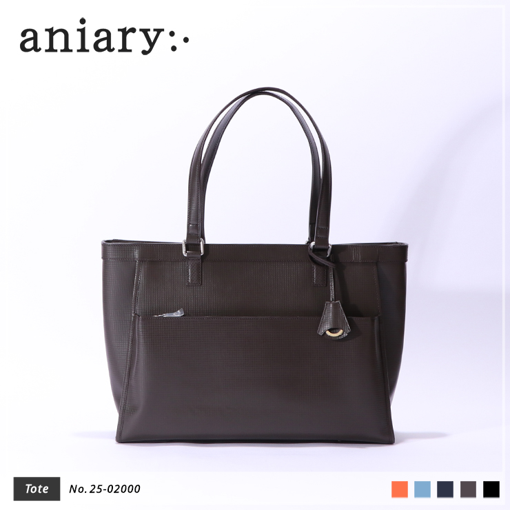 【aniary|アニアリ】トートバッグ Grid Leather 25-02000 Brown
