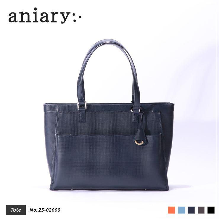 【aniary|アニアリ】トートバッグ Grid Leather 25-02000 Navy