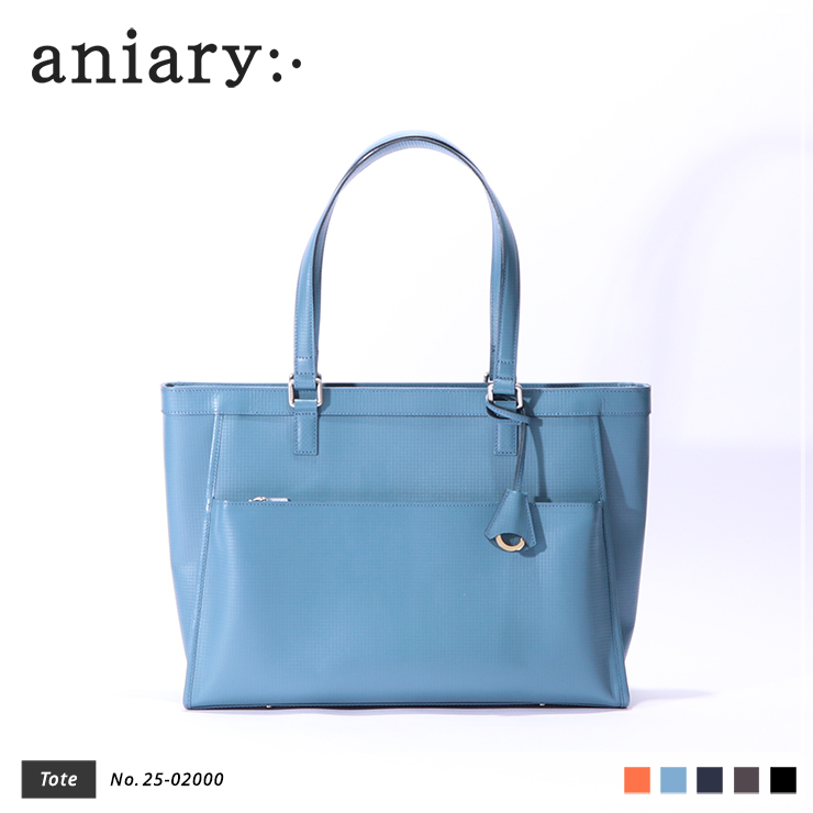 【aniary|アニアリ】トートバッグ Grid Leather 25-02000 Blue