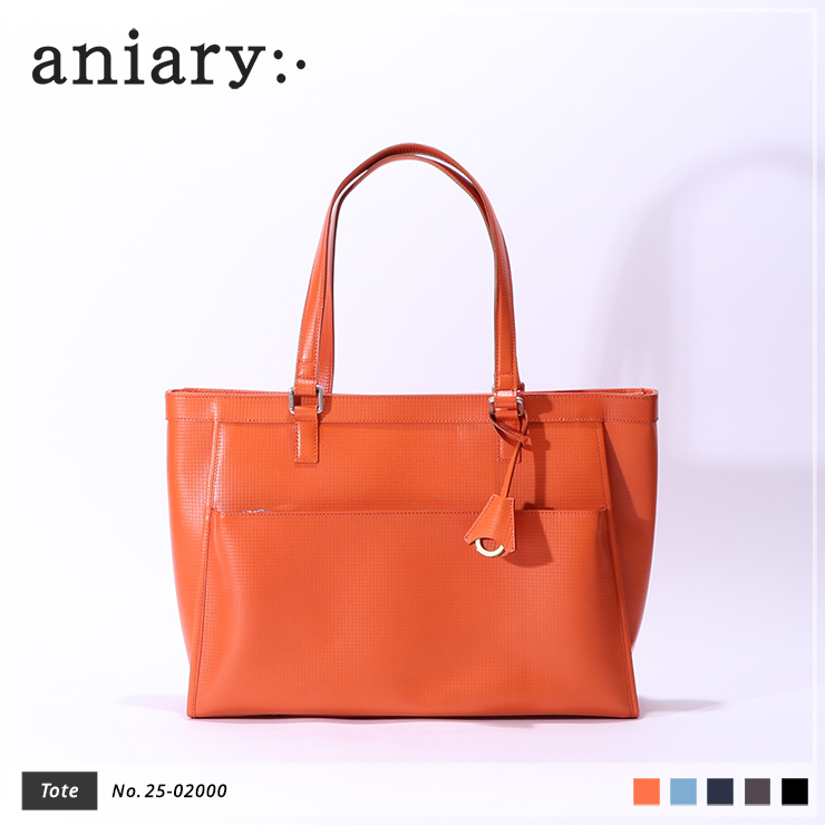 【aniary|アニアリ】トートバッグ Grid Leather 25-02000 Orange