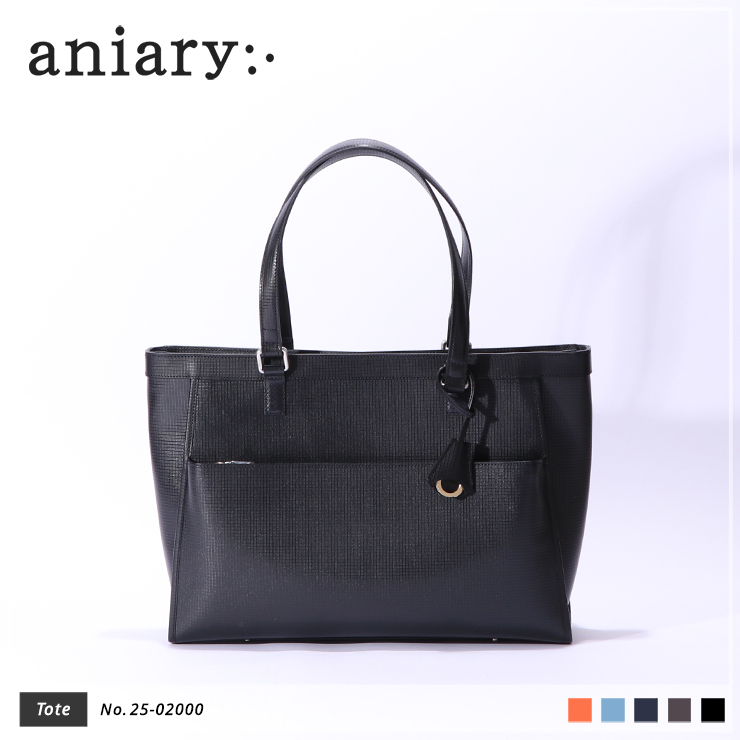 【aniary|アニアリ】トートバッグ Grid Leather 25-02000 Black