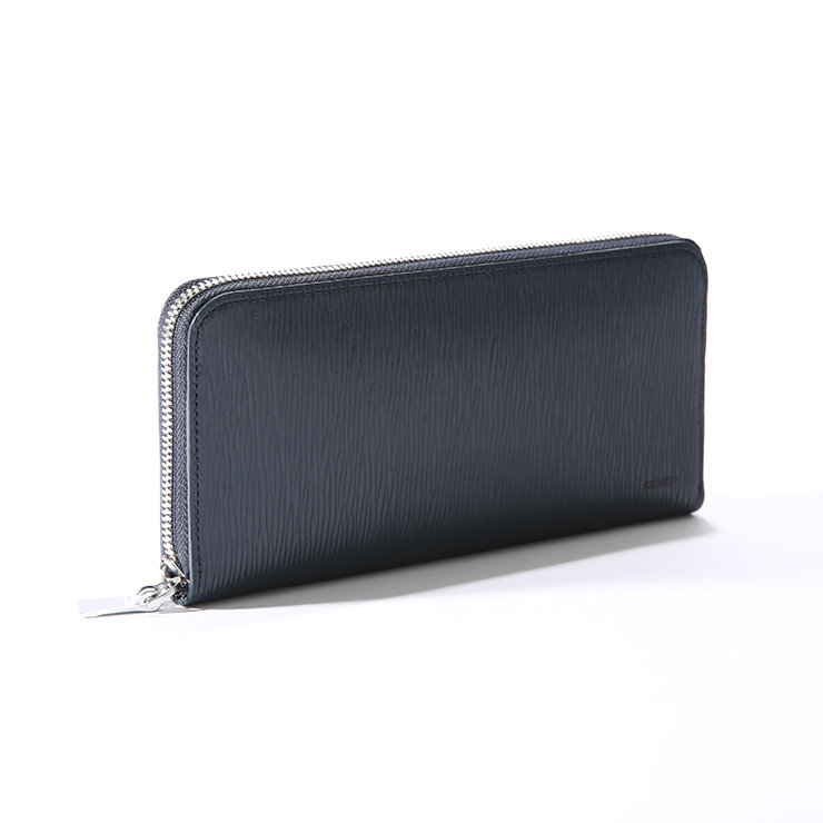 aniary ウォレット Wave Leather 牛革 Wallet 16-20003 オリーブ Olive