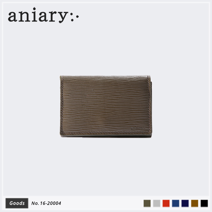 aniary カードケース Wave Leather 牛革 Cardcase 16-20004-olv
