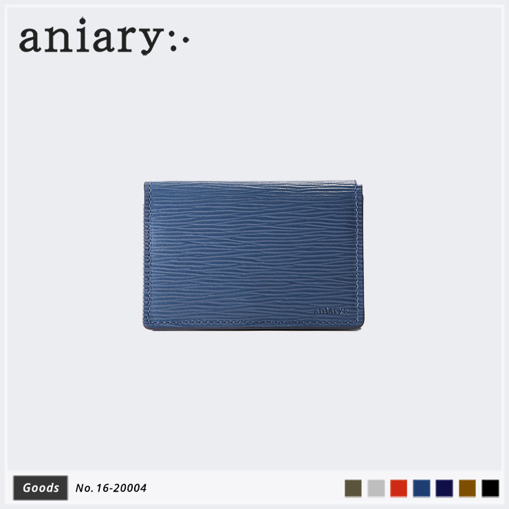 aniary カードケース Wave Leather 牛革 Cardcase 16-20004-nv